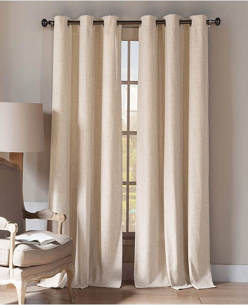 "Duck River Textile Keighley 54"" x 96"" Linen Look Curtain Set"