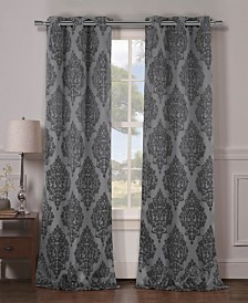 "Catalina 36"" x 96"" Damask Blackout Curtain Set"
