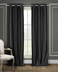 "Daenerys 38"" x 96"" Faux Silk Blackout Curtain Set"
