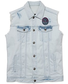 Born Fly Men's Flamingo Denim Vest