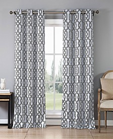 "Ashmont 38"" x 84"" Trellis Print Blackout Curtain Set"