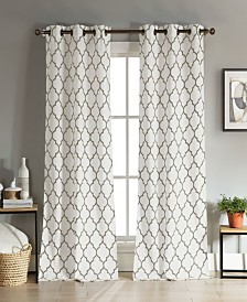 "Mason 38"" x 96"" Trellis Print Curtain Set"