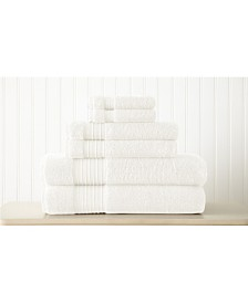 6-Piece 100% Turkish Cotton Towel Set
