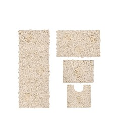 Bellflower Bath Rug 4 Pc