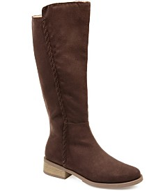 Journee Collection Women's Comfort Blakely Extra Wide Calf Boot