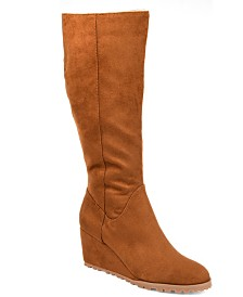 Journee Collection Women's Comfort Extra Wide Calf Parker Boot