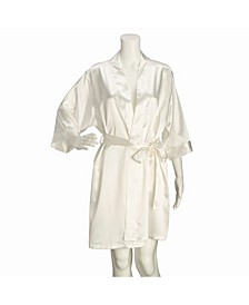 Ivory Satin Maid of Honor Robe S/M