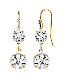2028 14K Gold-Dipped Genuine Swarovski Crystal Drop Earrings