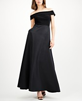 4f5127ceffba Adrianna Papell Off-The-Shoulder Mikado Gown