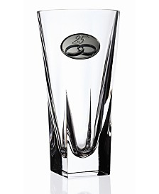 Lorren Home Trends RCR Fusion Small Crystal Vase with 25th Anniversary Design