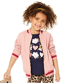 Epic Threads Little Girls Reversible Bomber Jacket, Created for Macy's