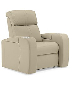 """Perison 39"""" Leather Theater Power Recliner"""