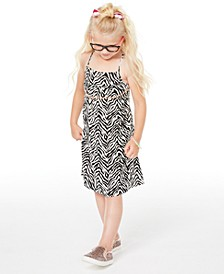 Little Girls Zebra-Print Dress, Created for Macy's