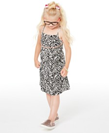 Epic Threads Little Girls Zebra-Print Dress, Created for Macy's