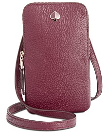 kate spade new york Polly Pebble Leather Phone Crossbody