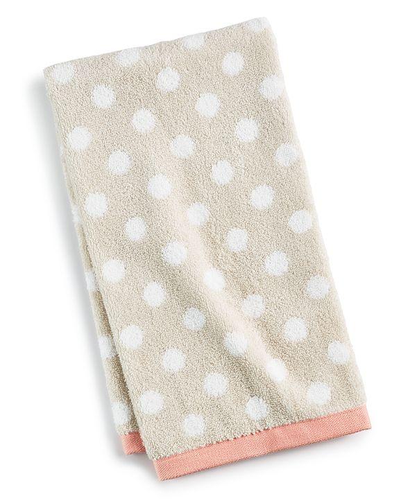 "Martha Stewart Collection 13"" x 13"" Cotton Dot Spa Fashion Wash Towel, Created for Macy's"