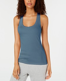 Jenni Lace-Trim Pajama Tank Top, Created for Macy's