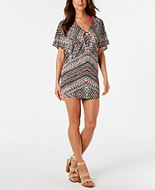 Printed Hardware Tunic Cover-Up, Created for Macy's