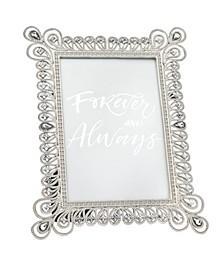 Silver with Diamond Bulb Corner Frame - 4x6