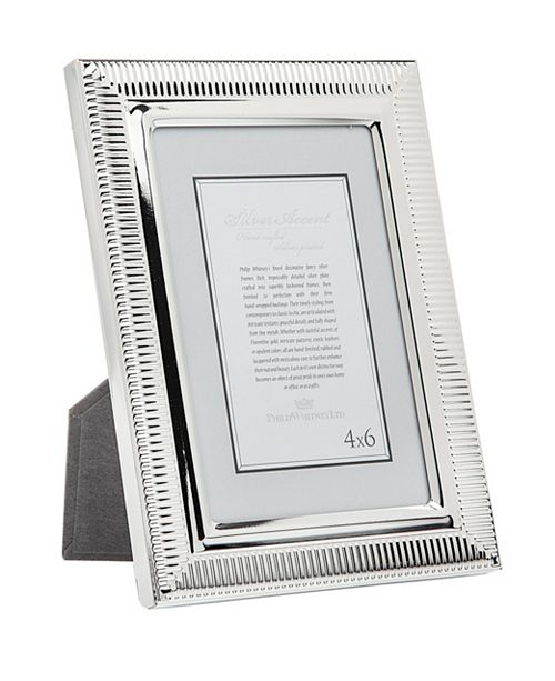 Philip Whitney Beveled Stripes Frame - 4x6