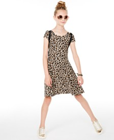 Epic Threads Big Girls Leopard-Print Criss-Cross Dress, Created for Macy's