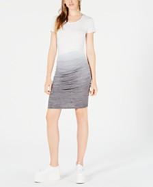 Bar III Ombré Side-Ruched Dress, Created for Macy's
