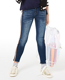 Big Girls Side Stripe Skinny Jeans, Created for Macy's