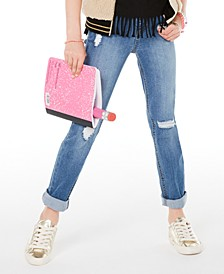 Big Girls Distressed Jeans, Created for Macy's