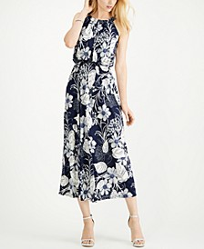 Petite Floral Sleeveless Maxi Dress
