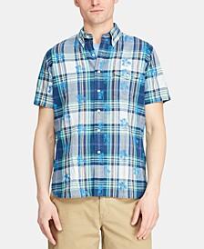 Men's Big & Tall Classic Fit Madras Shirt