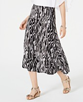 095d839a4 JM Collection Petite Printed Jacquard Skirt, Created for Macys