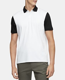 Calvin Klein Men's Regular-Fit Colorblocked Logo-Print Polo Shirt
