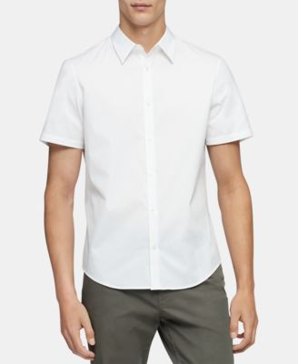 Calvin Klein Men's Classic-Fit Stretch Solid Shirt