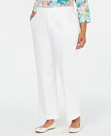 Alfred Dunner Plus Size Cayman Islands Straight-Leg Pants