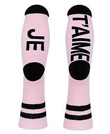 SOCK TALK Ladies' Crew Socks JE T'AIME