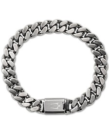 Bulova Men's Chain Bracelet in Stainless Steel