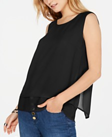 Michael Michael Kors Sleeveless Flyaway Top, in Regular & Petite Sizes
