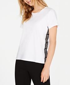 Michael Michael Kors MKGO Cotton Logo-Stripe T-Shirt, in Regular and Petite