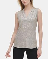 0b07a1c2038 Calvin Klein Womens Tops - Macy's