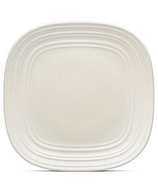 Mikasa Dinnerware, Swirl Square White Salad Plate