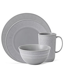 Vera Wang Wedgwood Dinnerware, Simplicity Gray Collection