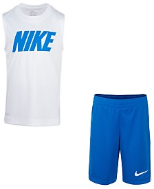 Nike Toddler Boys 2-Pc. Dri-FIT Sleeveless T-Shirt & Tricot Shorts Set