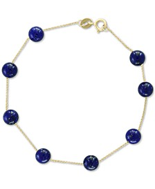 EFFY® Onyx Bead (6mm) Bracelet in 14k Gold (Also in Lapis Lazuli)