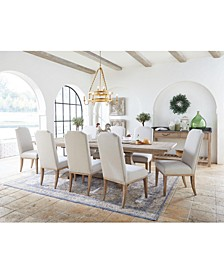 Rachael Ray Monteverdi Dining 9-Pc. Set (Table, 6 Upholstered Side Chairs & 2 Upholstered Arm Chairs)