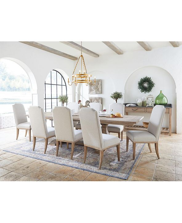 Furniture Rachael Ray Monteverdi Dining Furniture, 9-Pc. Set (Table, 6 Upholstered Side Chairs & 2 Upholstered Arm Chairs)