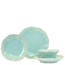 Vietri Incanto Stone Lace 4 Piece Place Setting