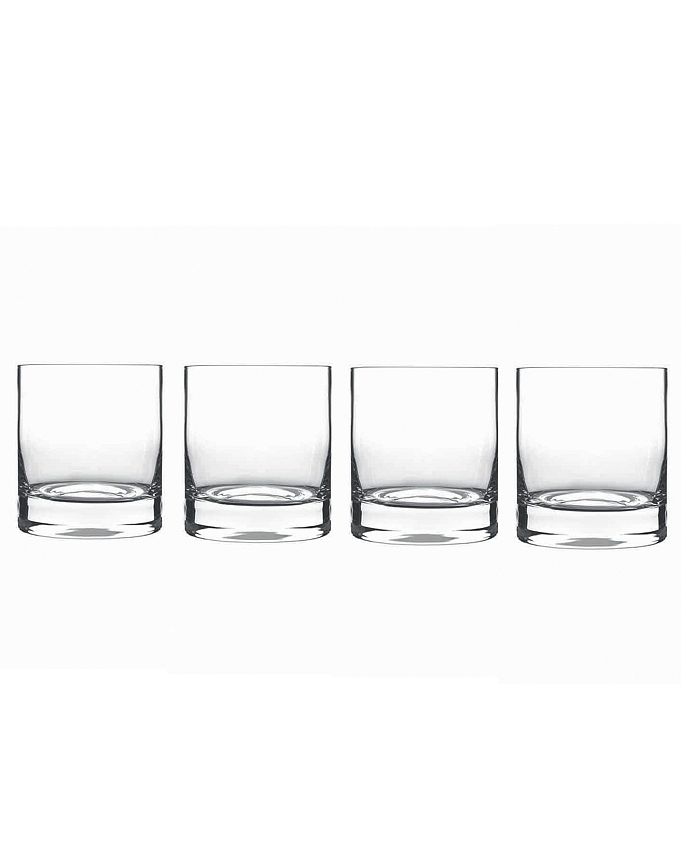 Luigi Bormioli - Set of 4 Classico Double Old-Fashioned Glasses
