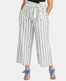 RACHEL Rachel Roy Plus Size Nancy Paperbag Pants