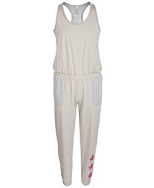 Big Girls Racerback Mesh Jumpsuit, Created for Macy's