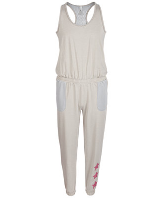 Big Girls Racerback Mesh Jumpsuit, Created For Macy's by General